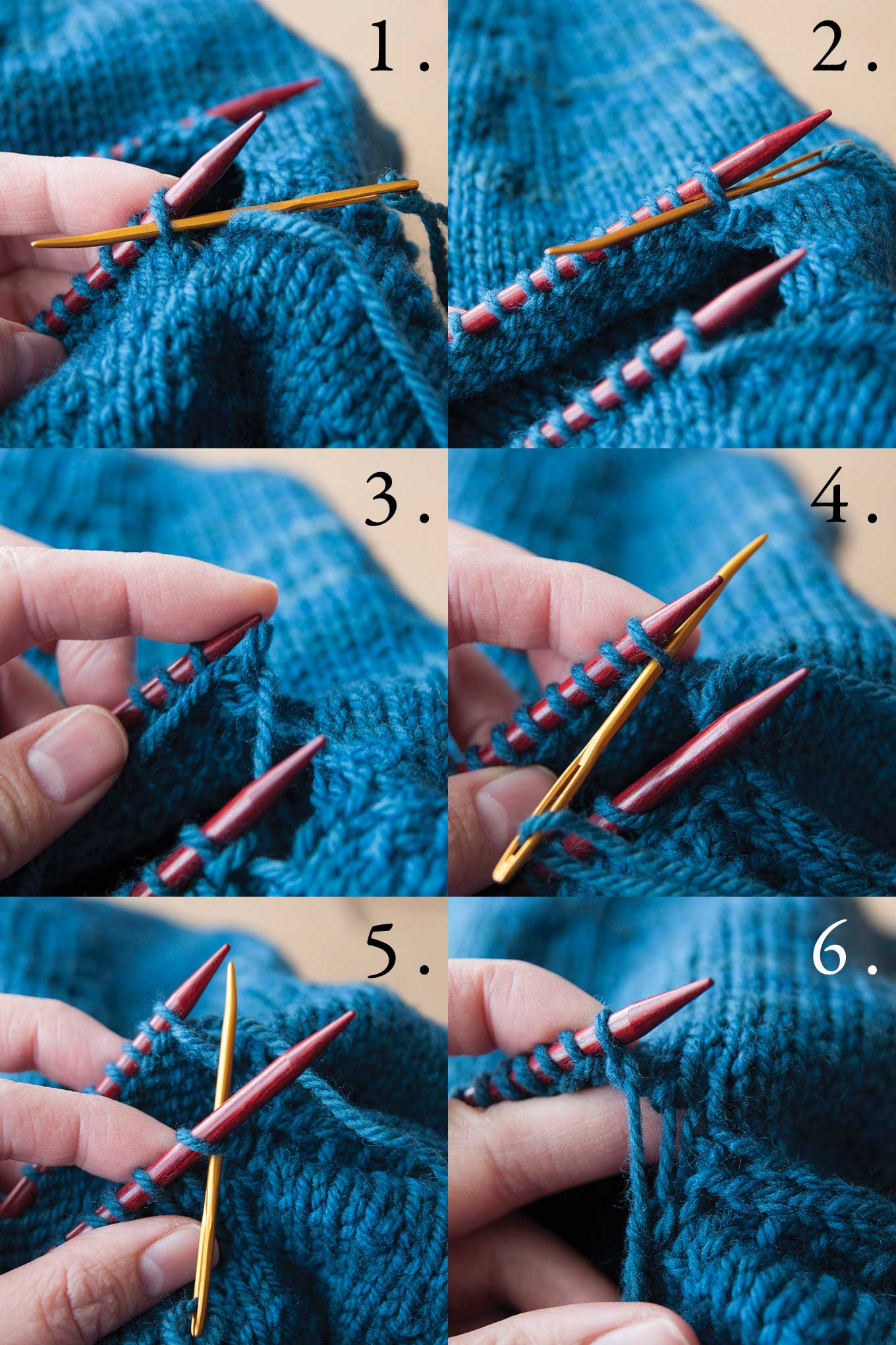 working Kitchener stitch