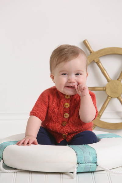 maritime baby cardigan