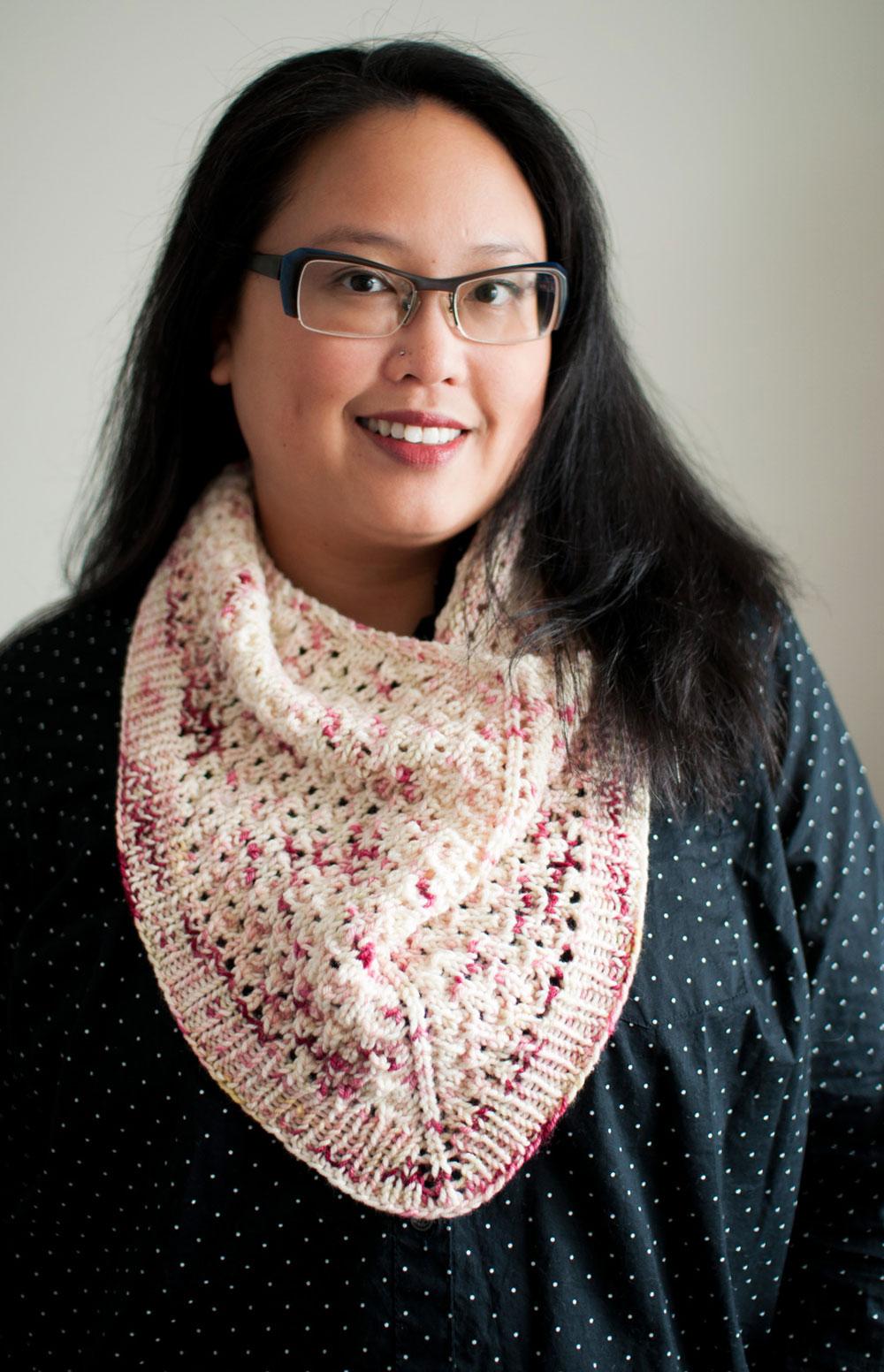 ingersoll knit lace cowl pattern