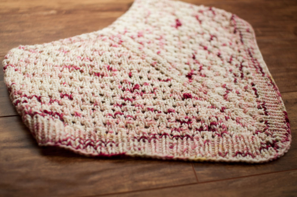 ingersoll knit lace cowl pattern flat