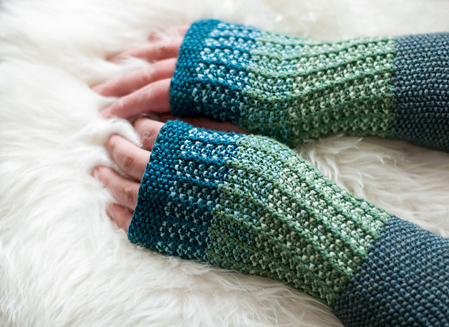 snooker knit mitts