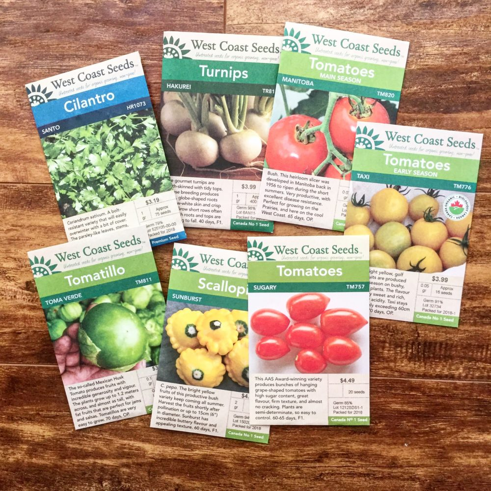 tomato and vegetable seeds